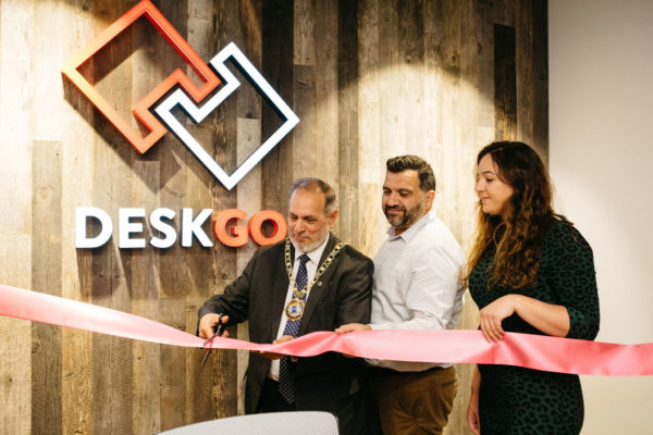 DESKGO ribbon cutting