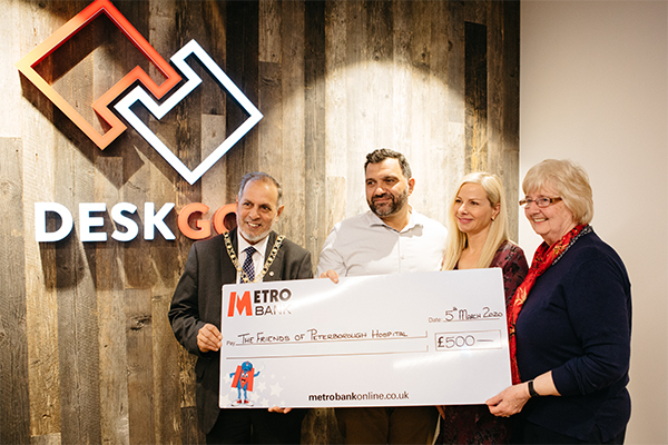 DESKGO donate £500 to Friends of Peterborough Hospitals
